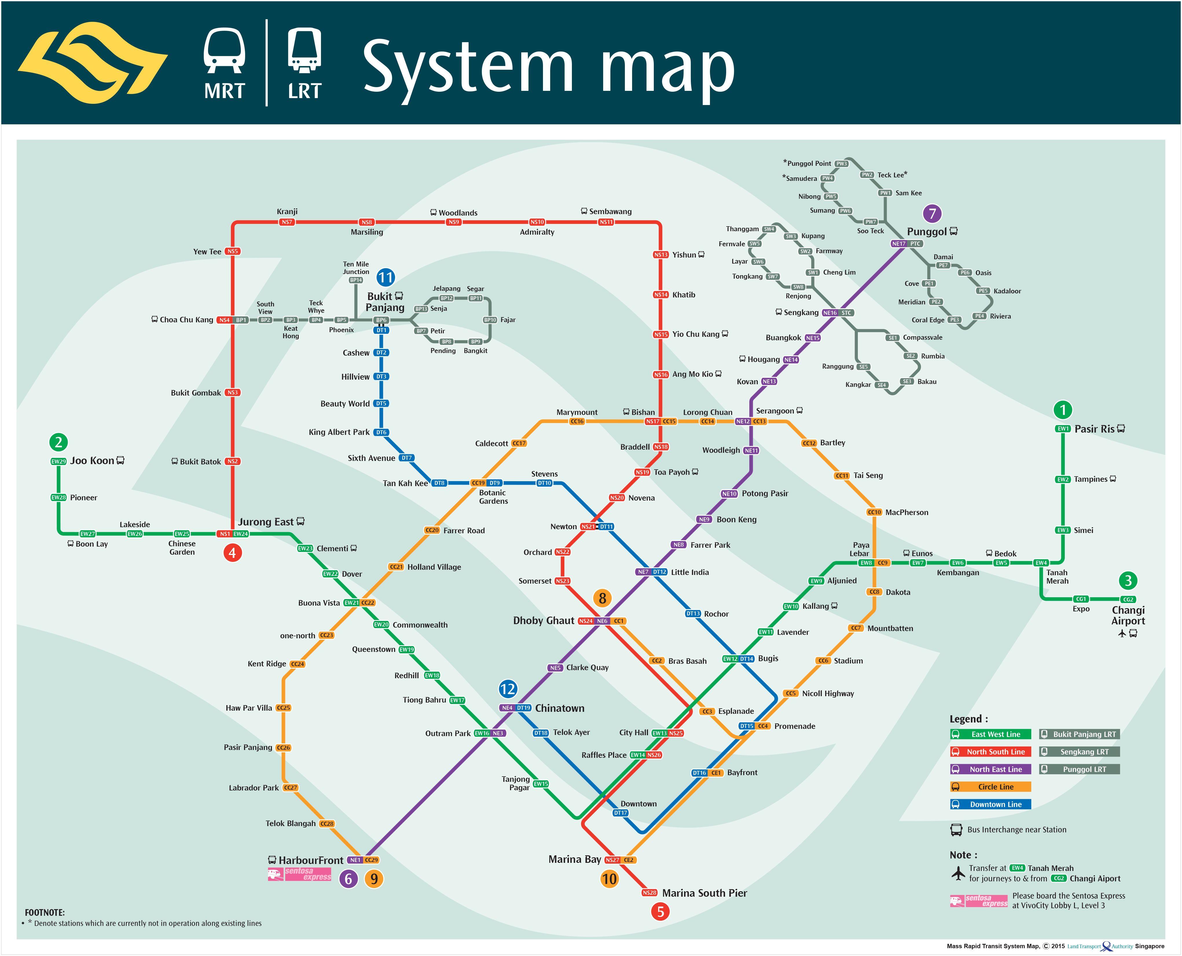 transitlink mrt system map others pinterest singapore