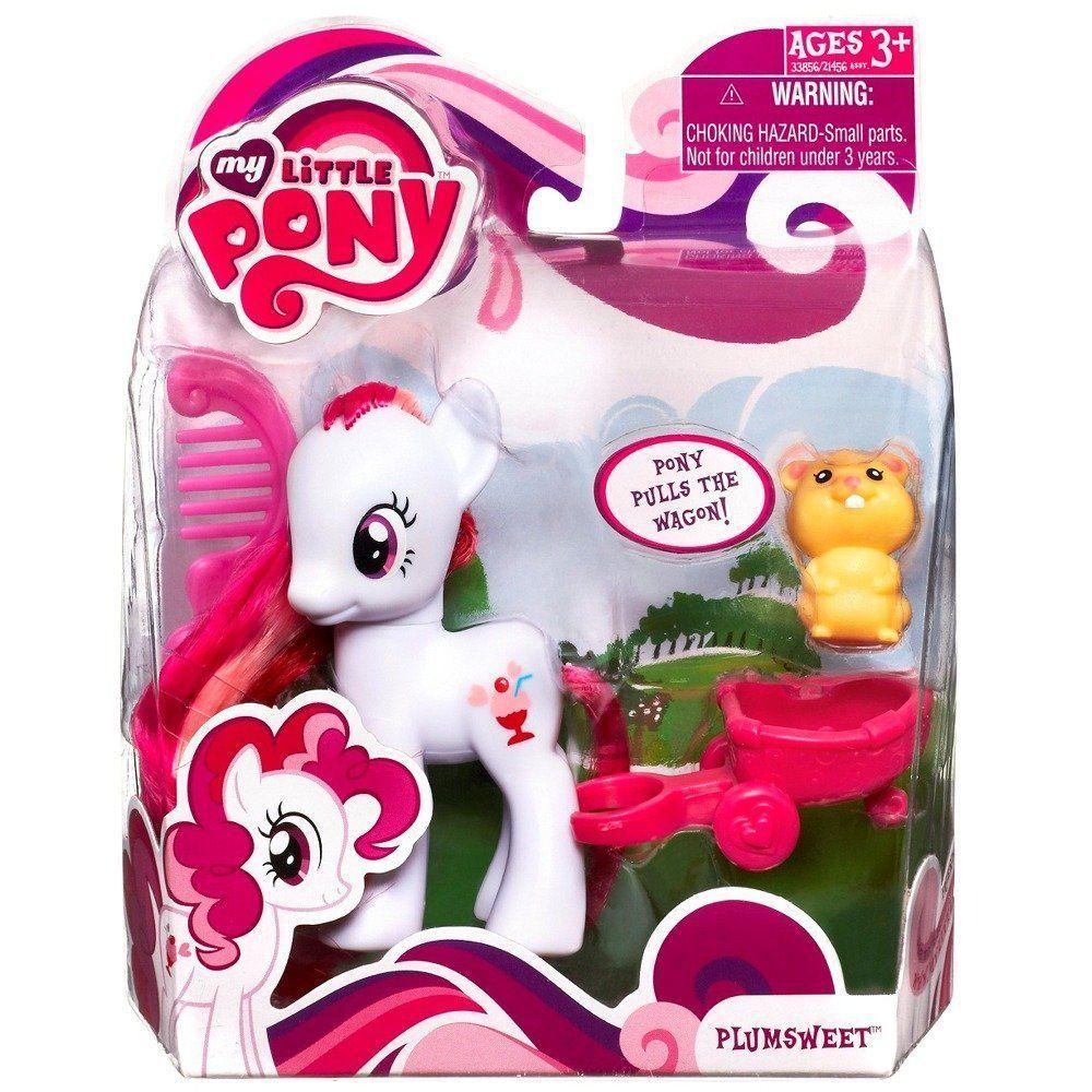 Retired My Little Pony Plumsweet With Pet Hamster Figure Unopened Sealed Ebay Pony Little Pony Hasbro My Little Pony