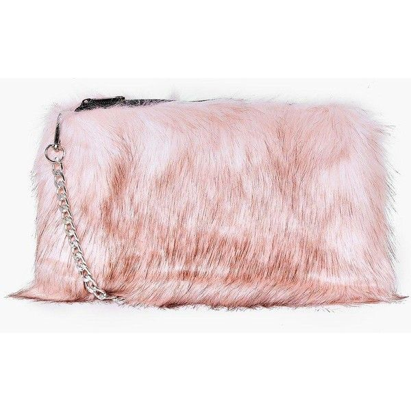 Boohoo Mia Faux Fur Cross Body Bag | Boohoo (79.560 COP) ❤ liked on Polyvore featuring bags, handbags, shoulder bags, pink, pink purse, pink backpack, crossbody backpack, evening purses and cross-body handbag