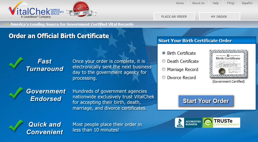 Obtain official, certified birth certificates online – quickly and ...
