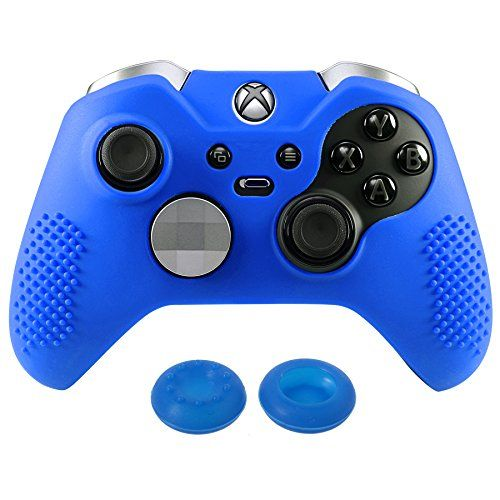 eXtremeRate Controller Skin Silicone Rubber Cover for Xbox One Protective Grip Case for Xbox One Controller with Thumb Grip Stick Caps