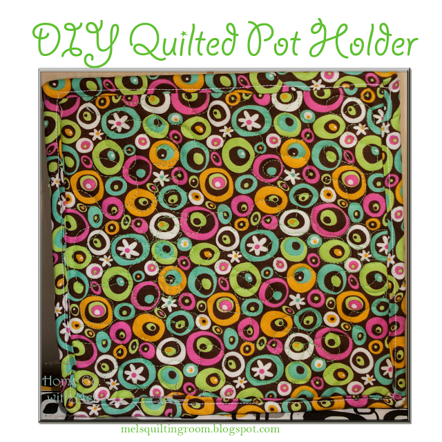 How To Make Your Own Quilted Pot Holders while practicing your free motion quilting techniques
