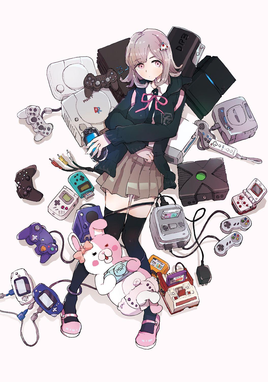Pixiv Id 259619 Super Danganronpa 2 Monomi Nanami Chiaki Playing Pink Ribbon