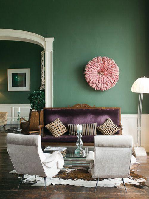 trend we love emerald interior accents D A R K - W A L L S