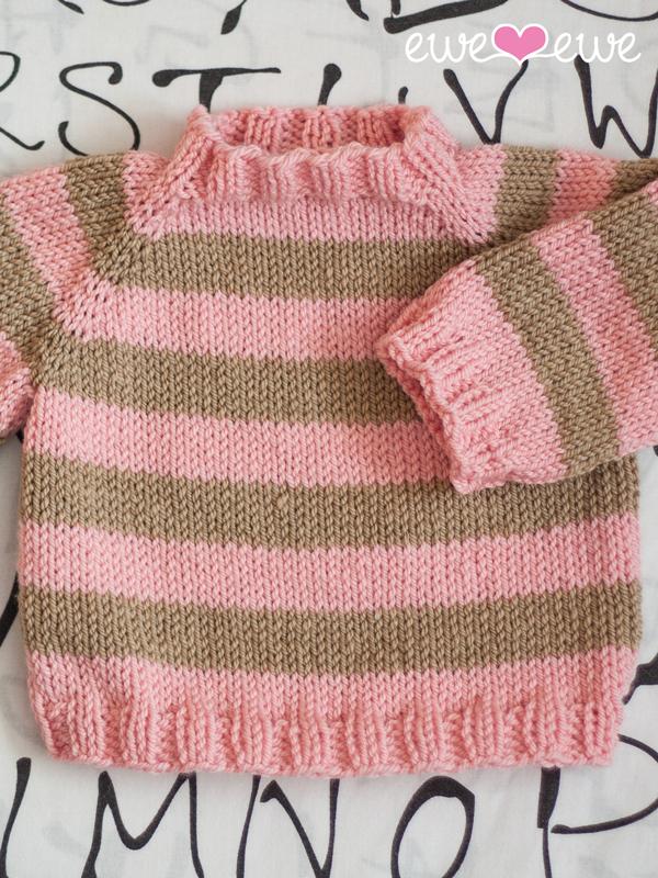 581e7f03d33f Easy As ABC Top-Down Raglan Baby Sweater PDF Knitting Pattern ...