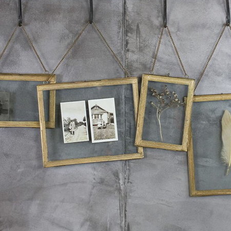Azizi Wall Hung Brass Frame Www Southwoodstores Co Uk Brass Photo Frame Wall Hanging Photo Frames Hanging Glass Frames