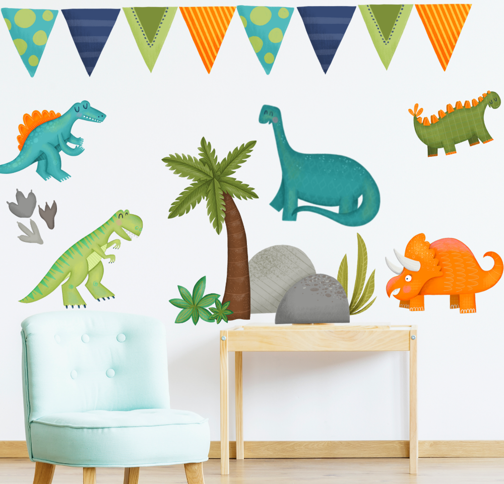 Dinosaur Wall Decals Dinosaur Wall Decor Kid Room Decor