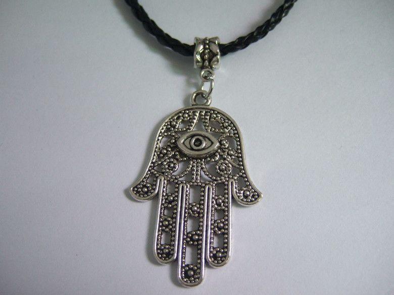 Hamsa Hand Eye Pendant Necklace