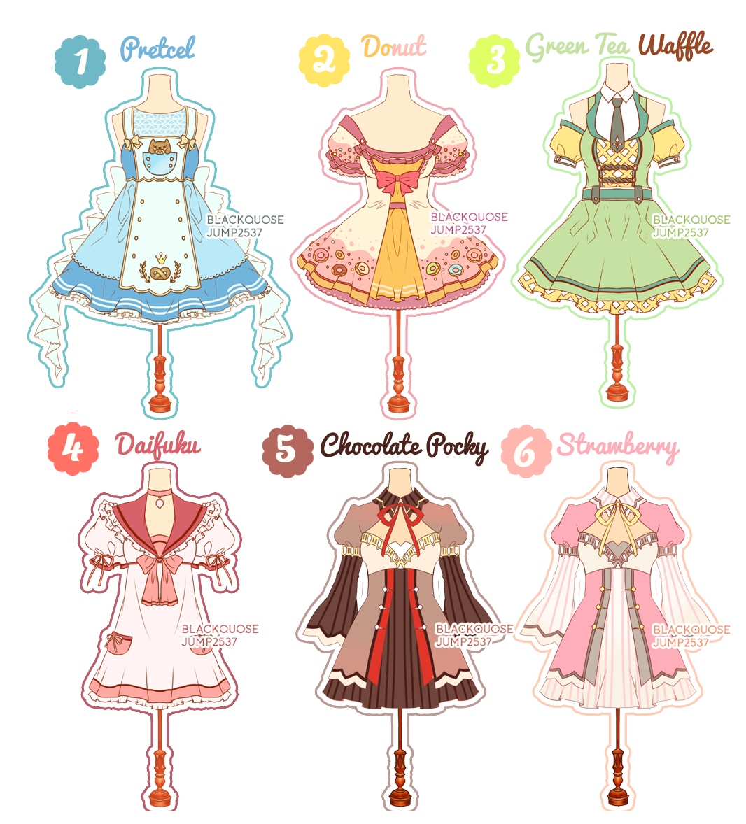 OPEN] Dessert Theme Outfit Adoptable#6 by Black-Quose.deviantart.com ...