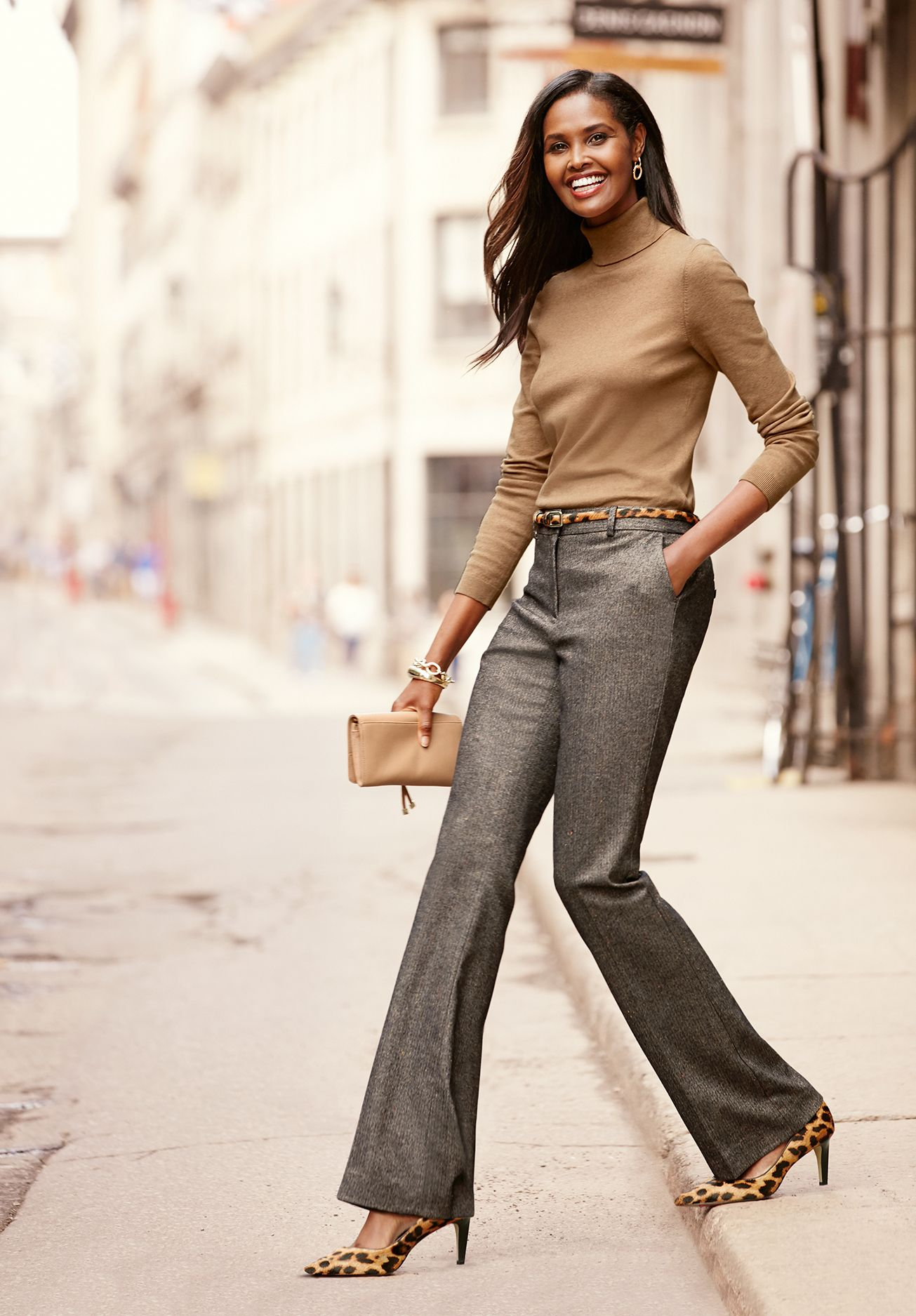 Fall's most fashionable pant: slightly above the waist ...