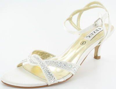 Wedding Sandals | Ivory Lexus Vanessa Kitten Heel Bridal Sandals #happyeverafter