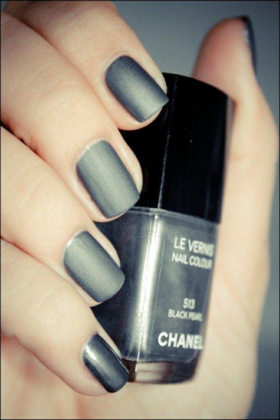 chanel black pearl + matte? | Nail Inspiration | Pinterest | Chanel ...
