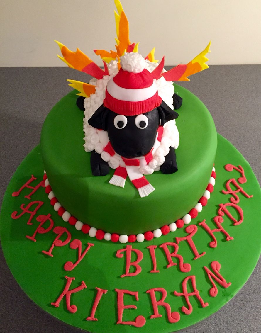 Aberdeen Fc Sheep On Fire Cake The Cake Emporium Pinterest