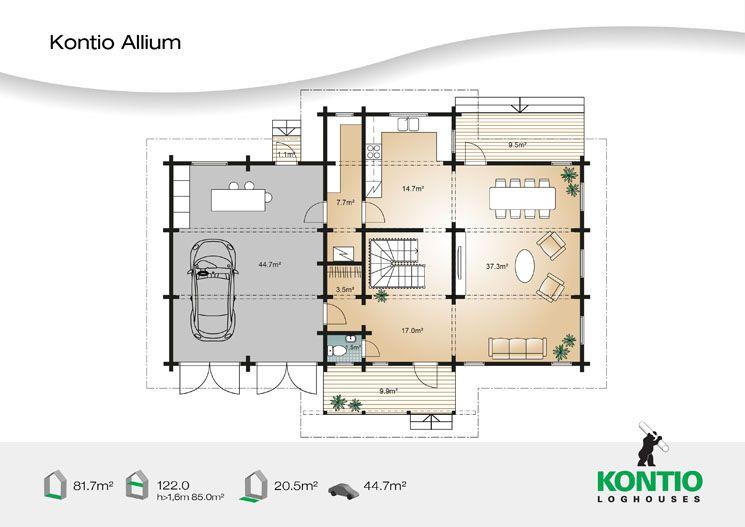 Kontio - Modèle de maison bois Allium architecture maison Pinterest