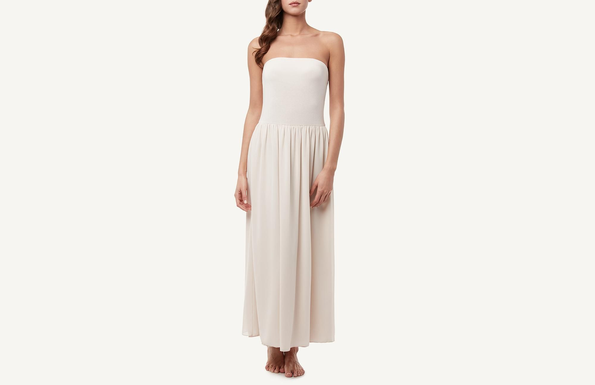 Long dress with georgette skirt intimissimi ustyle is a way to