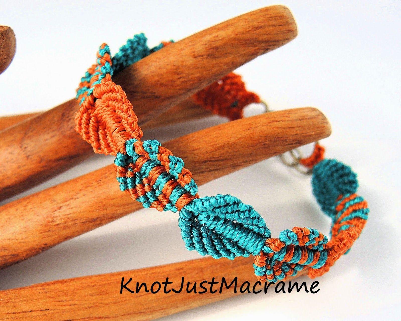 falling leaves micro macrame braceletsherri stokey of knot