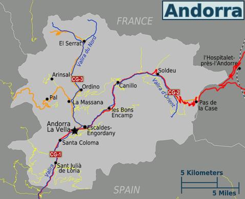 Get That Passport Stamp Mapa De Andorra