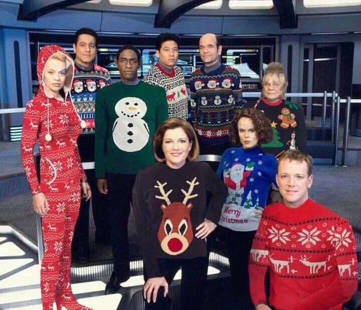 Star Trek Voyager Ugly Christmas Sweater Party Star Trek