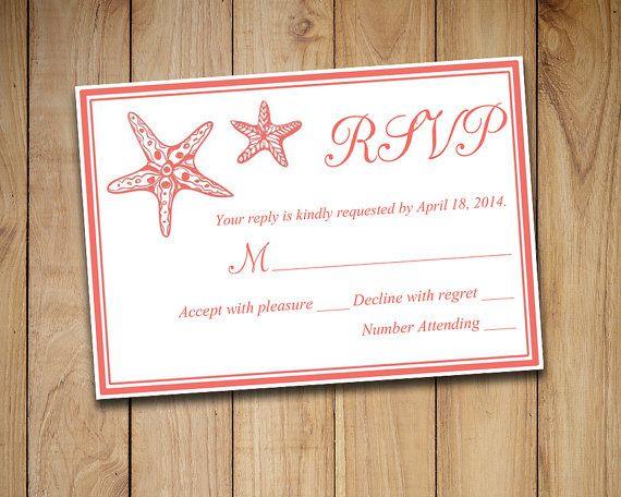 Beach Wedding RSVP Template