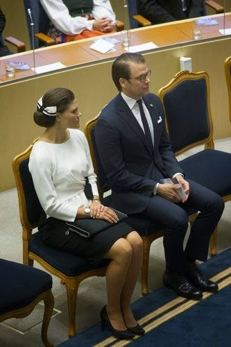 Swedish Crown Princess Victoria and Prince Daniel attends the Opening of the Parliamentary Session in Stockholm, 2014-09-30