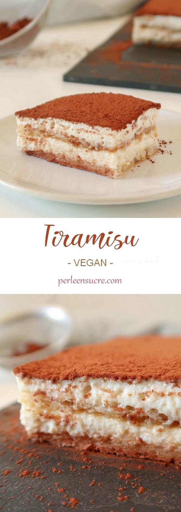 Tiramisu sans lactose et sans oeufs {vegan