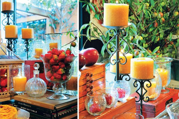 frutas e velas