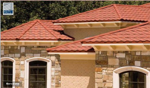 Stile metal spanish roof pictures products gerard for Metal roof that looks like spanish tile