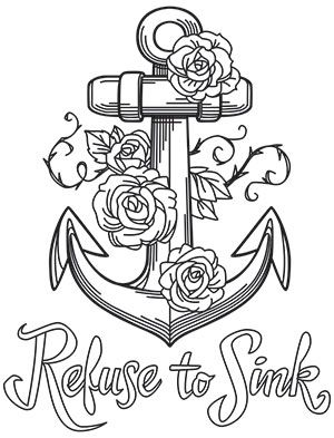 Bold thoughts refuse to sink design (uth16892) from urbanthreads John 14 15 Coloring Page Coloring Picture of Skull On Cross Holy Spirit Coloring Lent