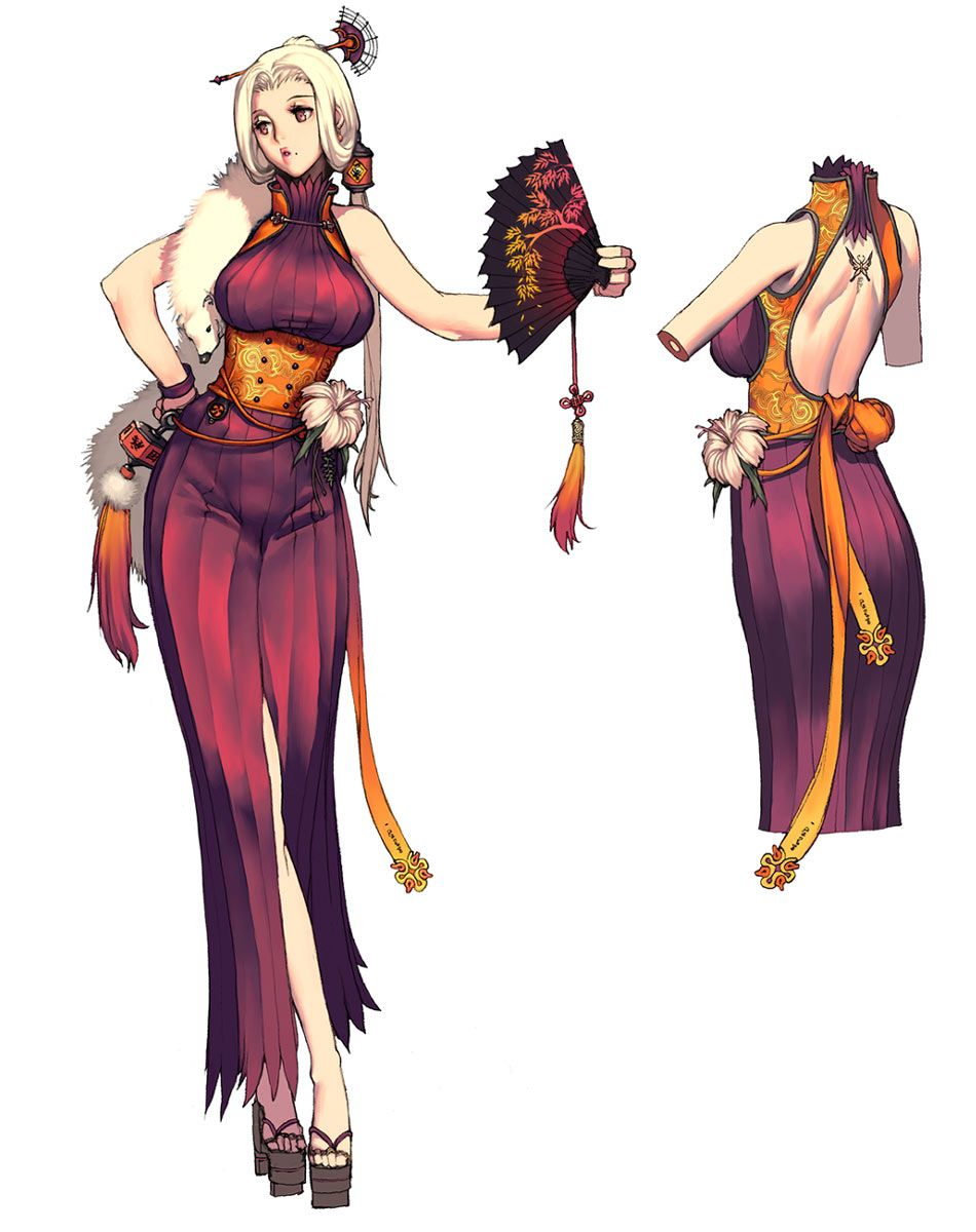 Anime Female Character Design : Blade and soul character design