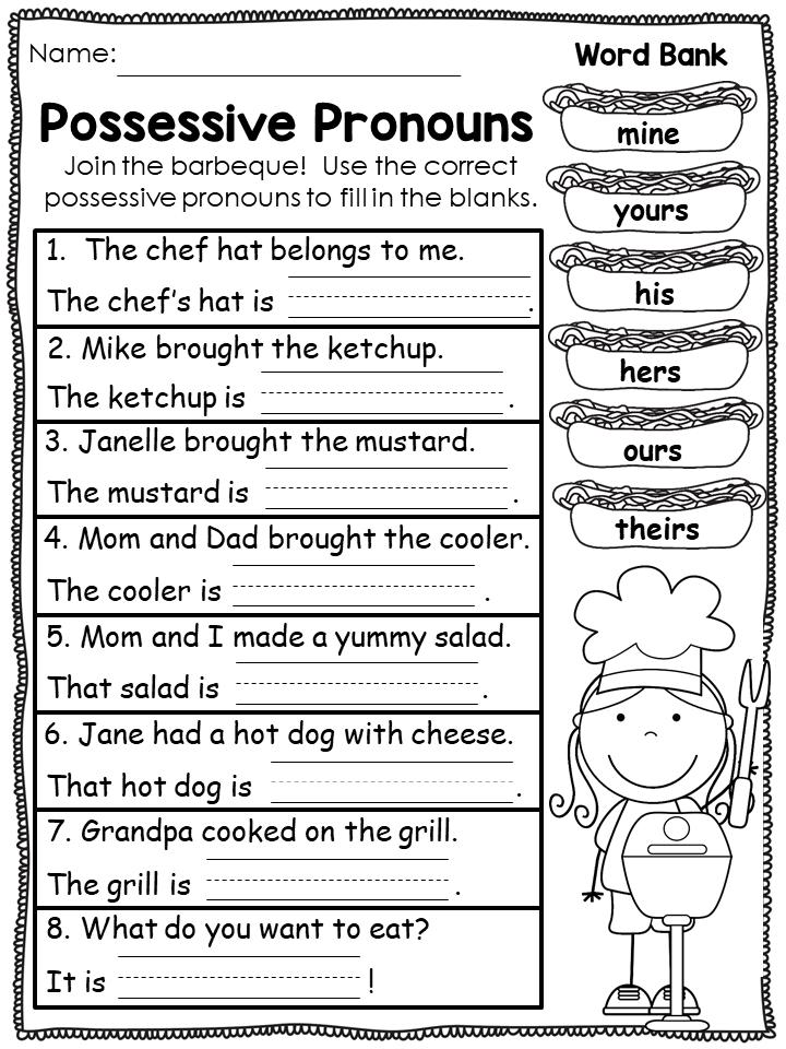 Pronouns Worksheets Pronoun Worksheets Possessive Pronoun Possessive Pronouns Worksheets