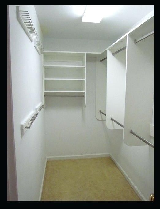 Walk In Closet Ideas Plus Narrow Walk In Closet Solutions