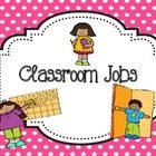 This polka dot chart is a fun way to keep track of students classroom jobs!