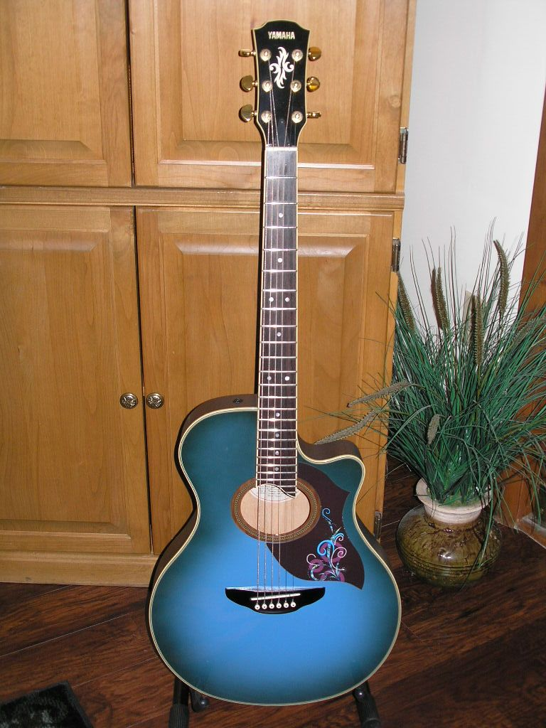 My 1980's APX-7 Yamaha Acoustic/Electric Guitar with a ... on
