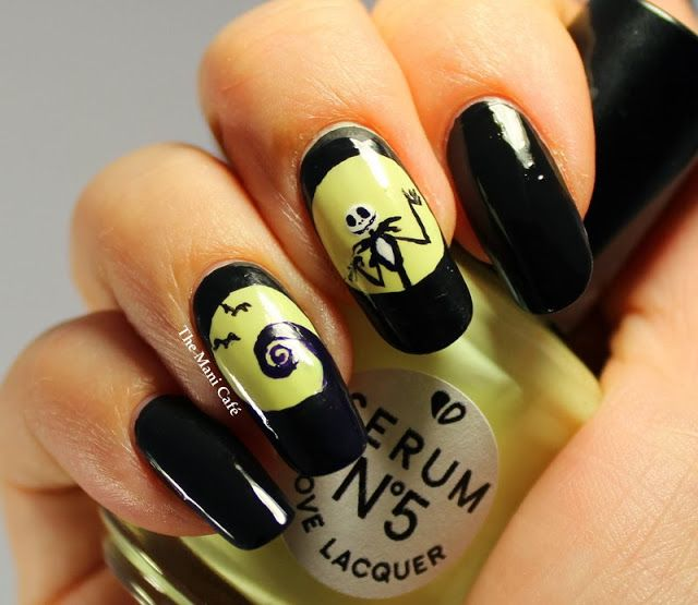 The Mani Cafe Halloween Nail Art The Nightmare Before Christmas