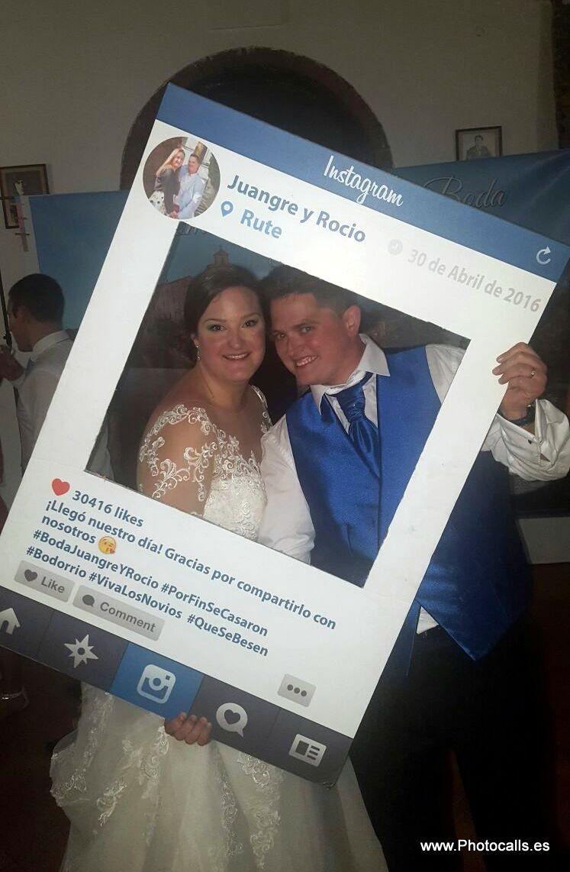 Photocall y Atrezzo.Marcos Instagram personalizados para fiestas ...