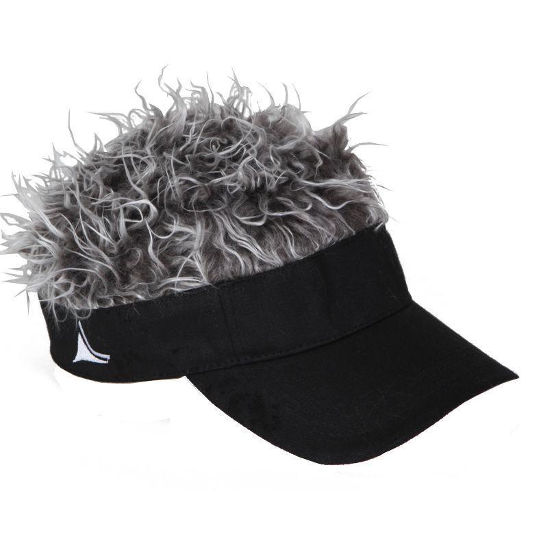 Flair Hair Visor Hat Golf Gray Grey New Wig Cap FREE SHIPPING Spike Goof  Spiky  FLAIRHAIR  Visor 703ae8b8907