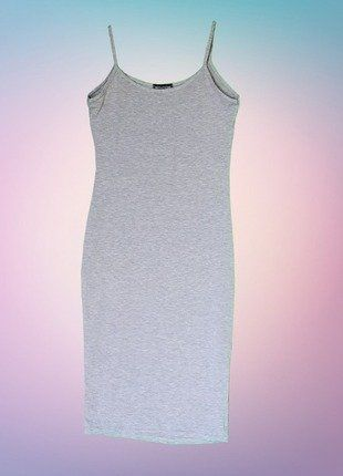 a71b6d5c73 Pretty Little Thing Grey Midi Dress | Selling on Vinted | Grey midi ...