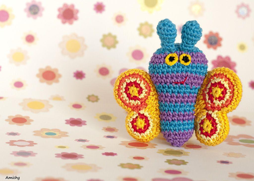 Amigurumi Pattern Crochet Amimals Butterfly Tutorial | Dos agujas ...