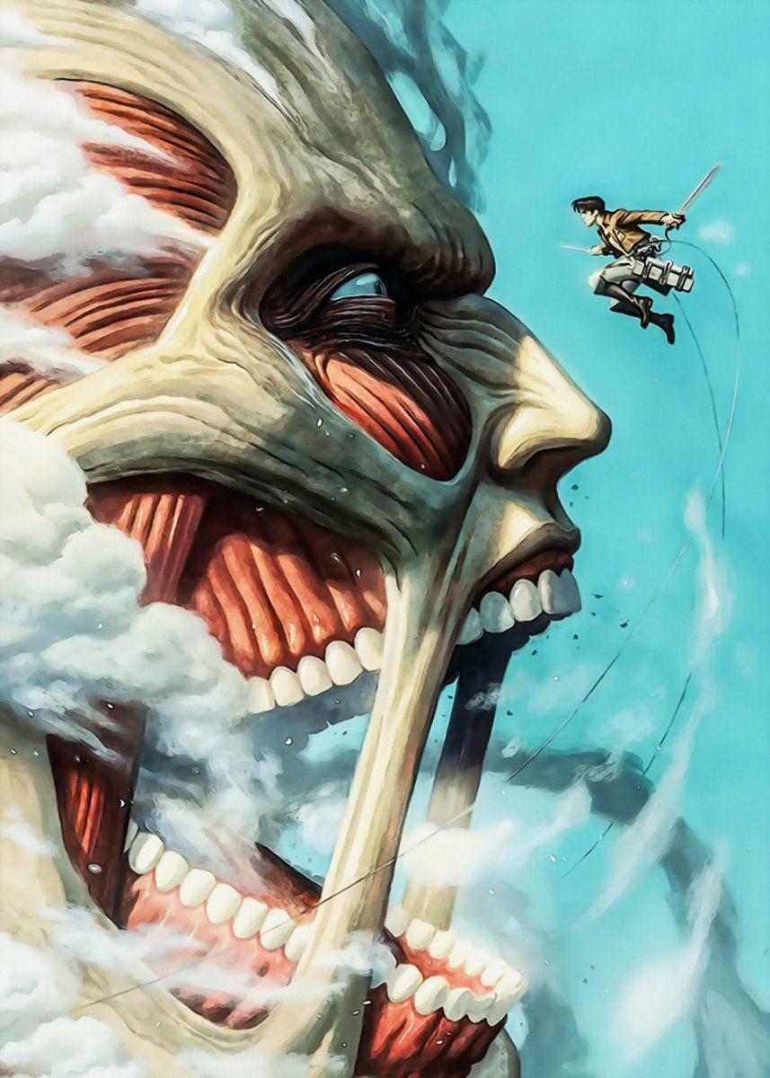 'Attack On Titan SIDE' Metal Poster Print - AnimeFreak studio | Displate
