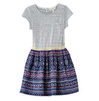 Jessica Simpson Girls' 7-16 Knit Short Sleeve Dress