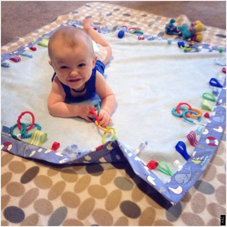 Tummy time ribbon taggie and links play mat. available ...