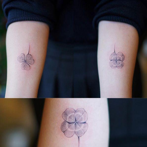 Trebol Tatuaje 35 artistic shamrock and four-leaf clover tattoos | perfecto