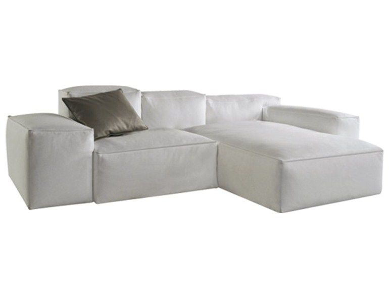 Sectional leather sofa cadence les contemporains collection by roche bobois design hans hopfer for Sofa contemporain design