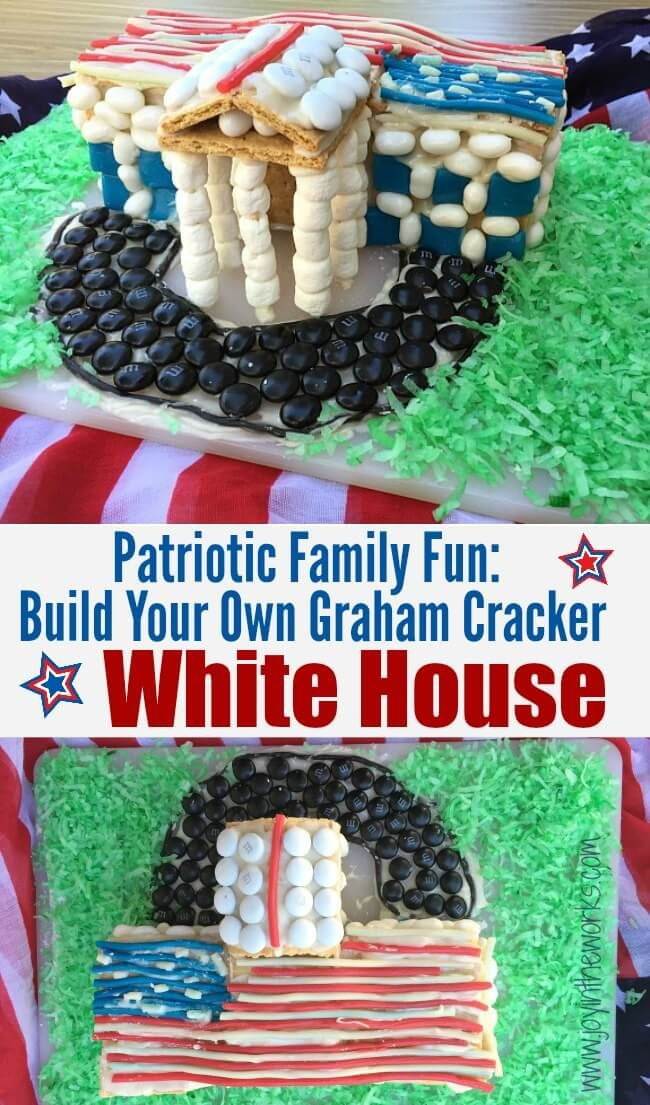 Build your own graham cracker white house graham crackers fun looking for a creative patriotic family fun activity this of july try making this graham cracker white house and decorating it with candy solutioingenieria Gallery