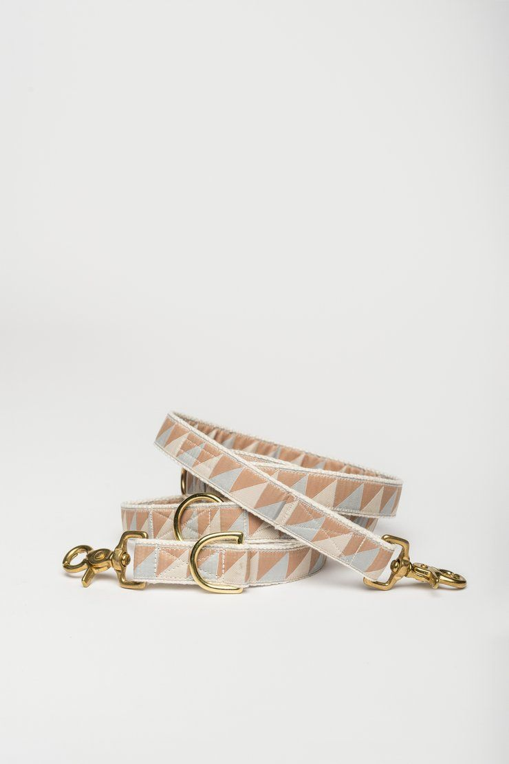 Nice Grill Ice Blue, Camel & Ivory Leash