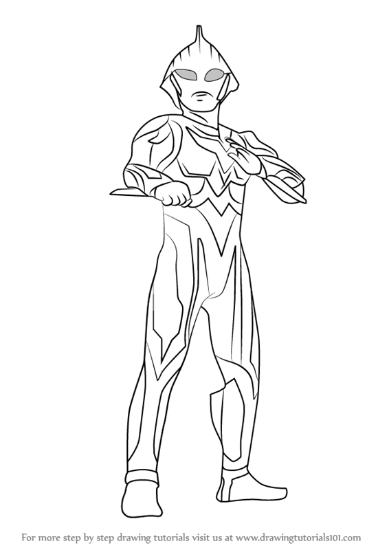 Learn How To Draw Ultraman Nexus Ultraman Step By Step Drawing Tutorials Drawings Coloring Pages To Print Drawing Tutorial