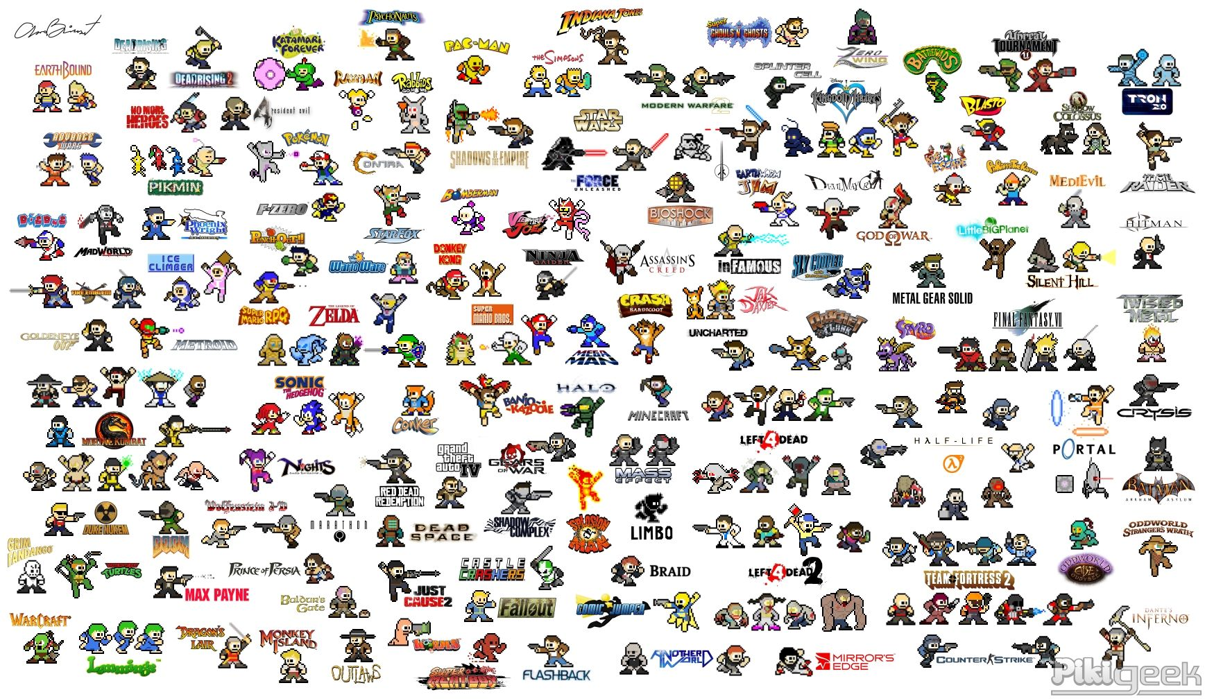 Wallpaper Of Old Video Games All Done In Style Of Mega Man Classic