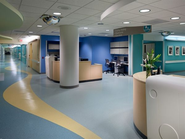 Fun Space At Order Of St Francis Hospital In Peoria Il Featuring Mannington Commercials Product Realities Flooring On Walls Modern Flooring Unique Flooring