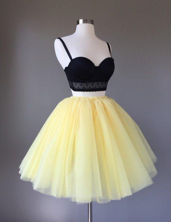 989396c95ee08 Pale Yellow Tulle Skirt - Adult Bachelorette Tutu- adult tutu