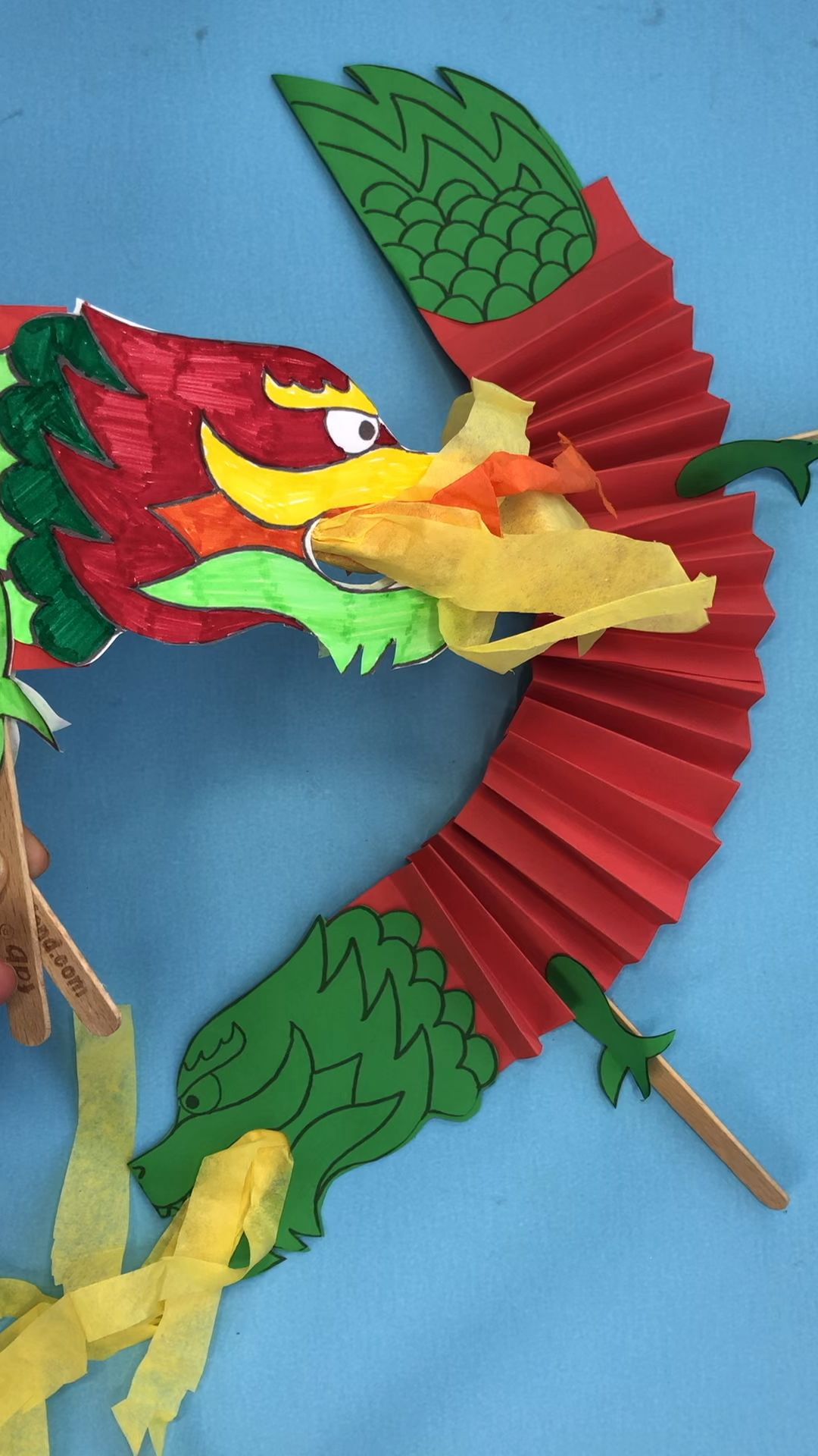 Chinese New Year Craft Dragon Puppet Printable Video Video New Year S Crafts Dragon Crafts Chinese New Year Crafts
